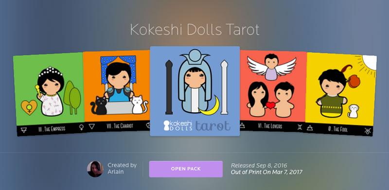 kokeshi dolls tarot