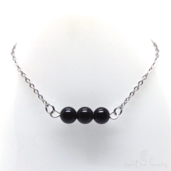 Collar Sencillo Obsidiana