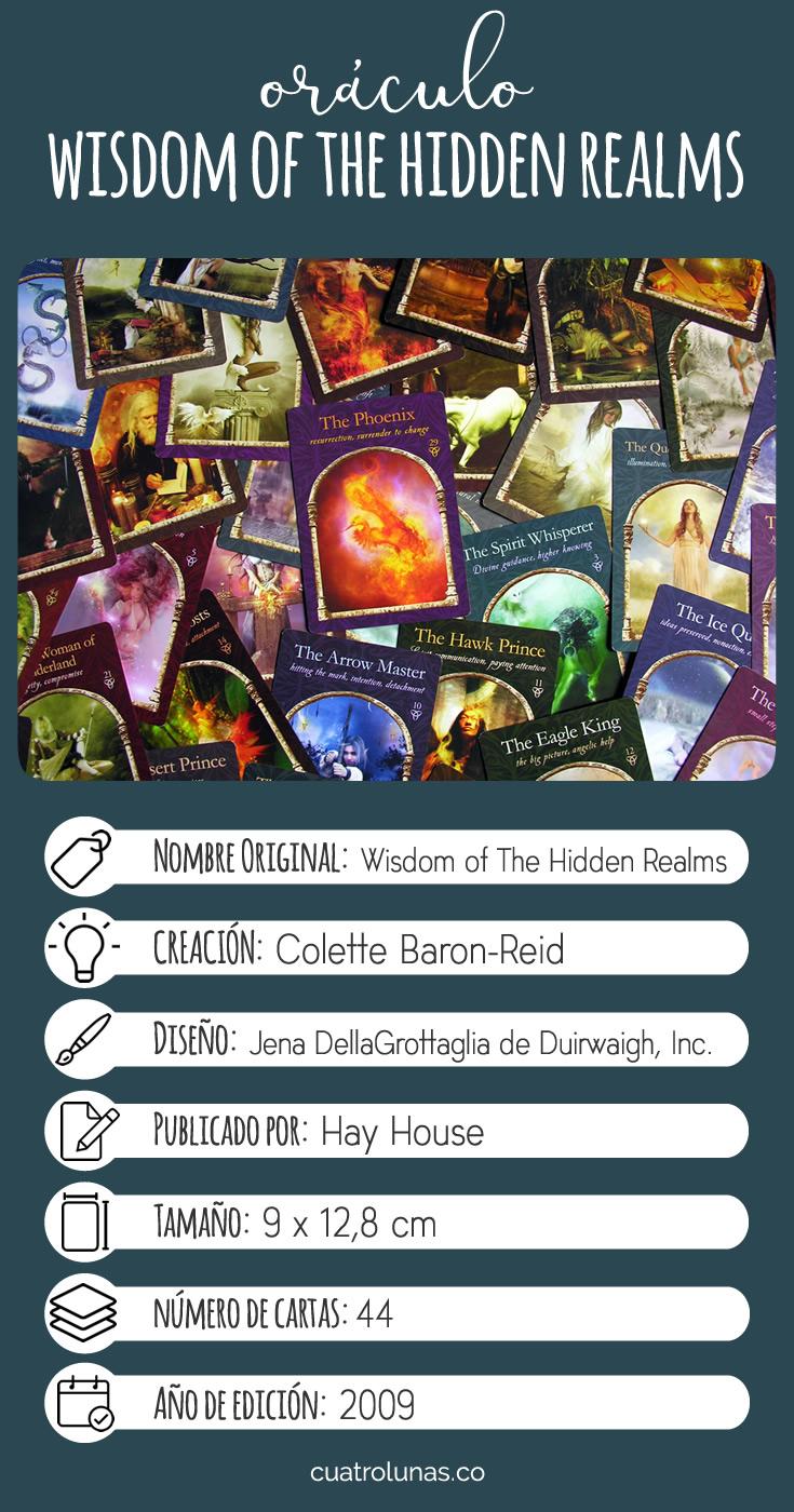 Infografia Oraculo Wisdom of the Hidden Realms