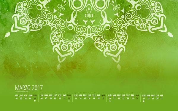 Calendario Cuatro Lunas Marzo
