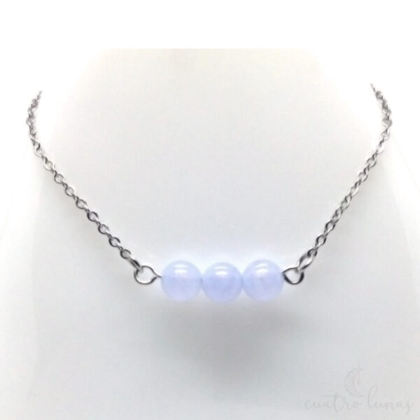 Collar Sencillo Agata Azul