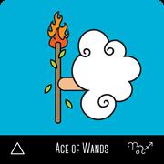 kokeshi tarot ace of wands