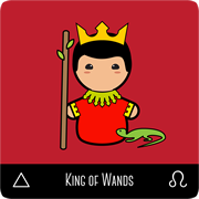 kokeshi tarot king of wands
