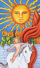 rider waite 19 el sol