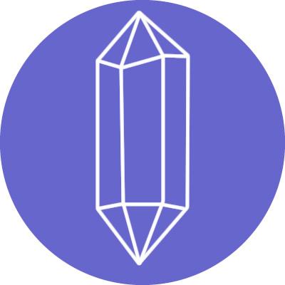 formas cristales doble punta