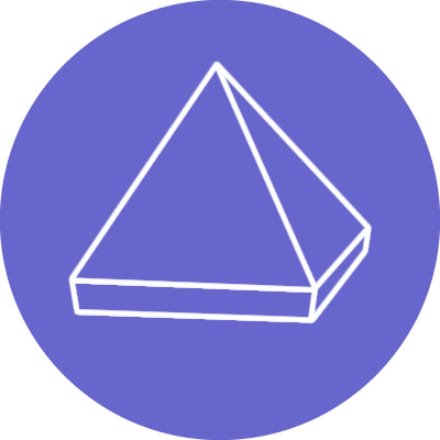 formas cristales piramide