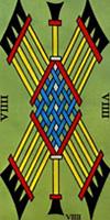 tarot marsella nueve de bastos