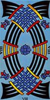 tarot marsella ocho de espadas