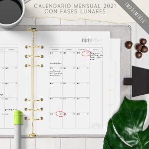 Calendario Fases Lunares 2021
